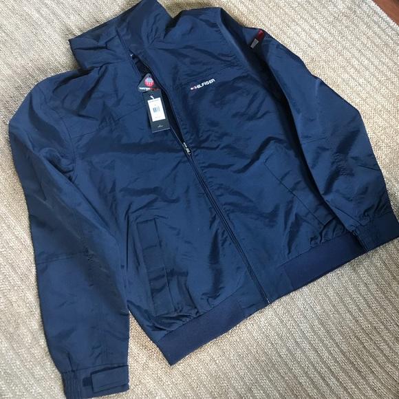 3492ab635ecf11 Tommy Hilfiger yacht jacket in navy blue sz M